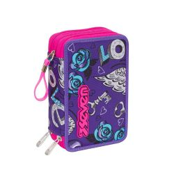 Pencil case Seven color violet   Astuccio 3 ZIP Keys online price for sale:  35.90 €