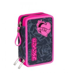 Pencil case Seven color black/pink   Astuccio 3 ZIP Lefleur online price for sale:  35.90 €