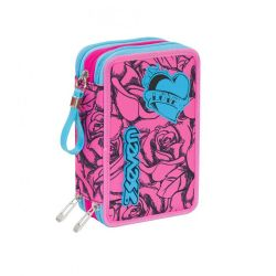 Pencil case Seven color pink   Astuccio 3 ZIP Lefleur online price for sale:  35.90 €