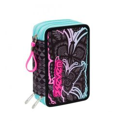 Pencil case Seven color black   Astuccio 3 ZIP Chrysalis online price for sale:  35.90 €