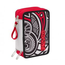Pencil case Seven color grey/red   Astuccio 3 ZIP Rawiri online price for sale:  35.90 €