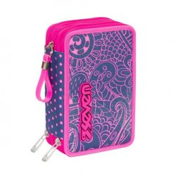 Pencil case Seven color pink   Astuccio 3 ZIP Mandala online price for sale:  35.90 €