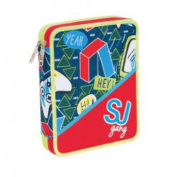 Pencil case Seven color multicolor   Astuccio 2 ZIP SJ Boy online price for sale:  35.90 €