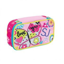 Pencil case Seven color pink   Astuccio QUICK CASE SJ Girl online price for sale:  32.90 €