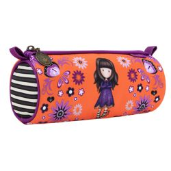 Pencil case Gorjuss color orange   Round Pencil Case COBWEBS online price for sale:  14.90 €
