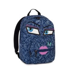38e5b72721 Backpack Invicta color blue Backpack Ollie Face Fantasy online price for  sale: 44.90 €. Zaino Ollie Face